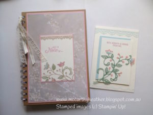 papercraft mini class for STampin up