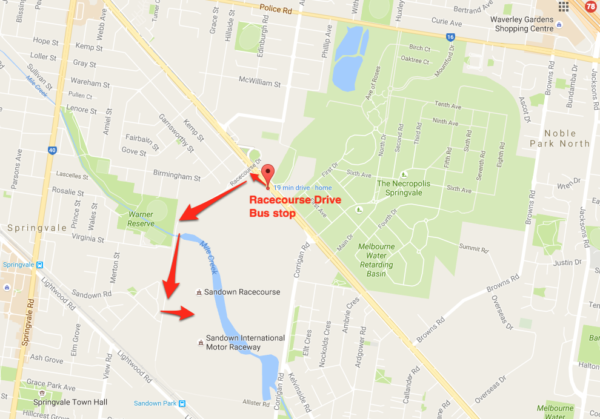 bus-to-sandown-show-map
