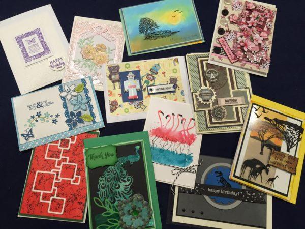 papercrafts show handmade card entries