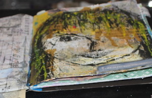 craftets cupbaords art journal